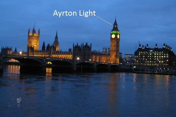 Ayrton Light symbolizuje trwające obrady Izby Gmin