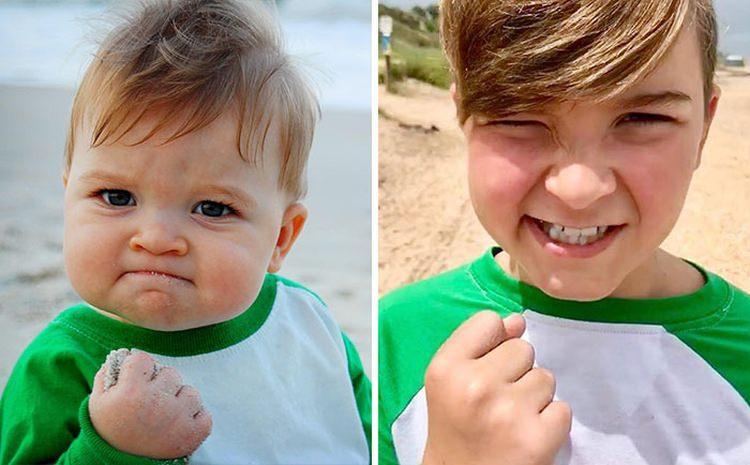 bohaterowie memów kiedyś i dziś - dzieciak sukcesu
