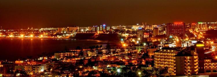 Playa del Ingles i San Agustin nocą