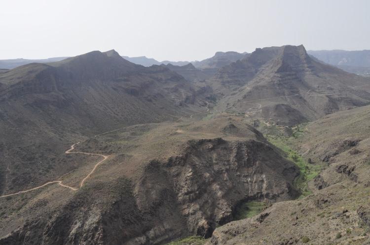 Punkt widokowy Mirador de la Degollada de las Yeguas Gran Canaria z którego zobaczymy wąwóz Barranco de Fataga