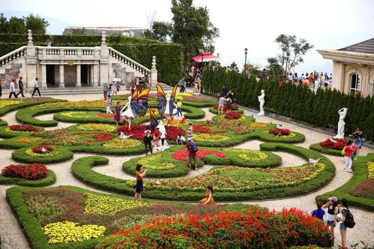 ogród w parku rozrywki SunWorld w Wietnamie