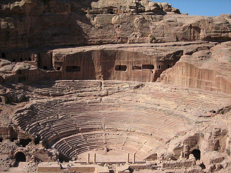 Teatr w skalnym mieście Petra