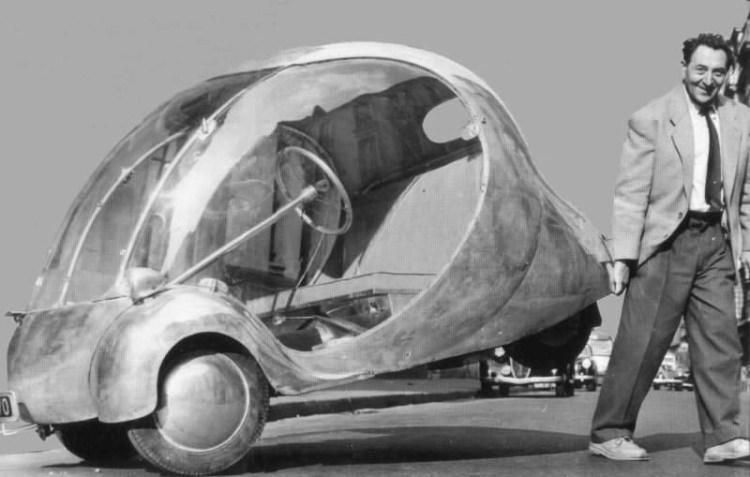 elektryczne jajko - samochód elektryczny z 1942 roku