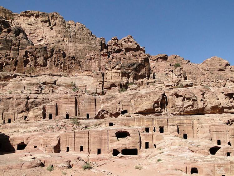 Petra - ulica Fasad w skalnym mieście