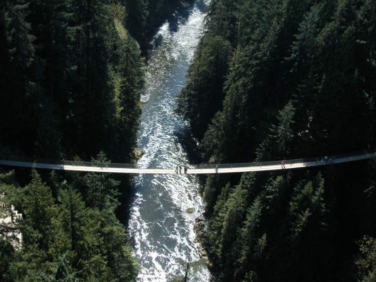 Niezwykły most wiszący Capilano