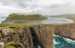 jezioro sorvagsvatn na Wyspach Owczych