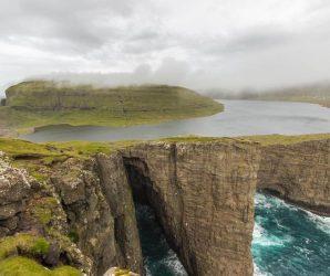"Sorvagsvatn – niesamowite jezioro ""wiszące"" nad oceanem"