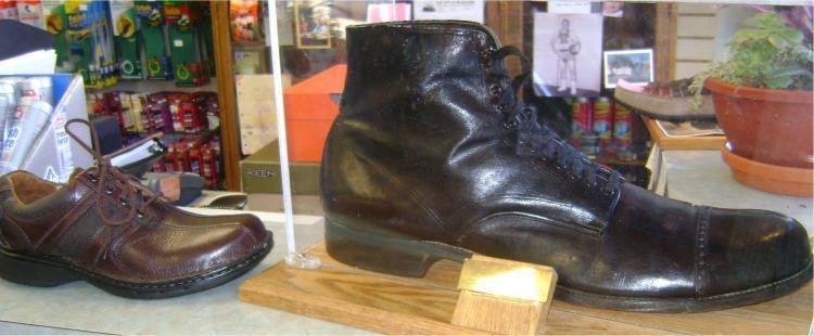 Buty najwyższego człowieka w historii