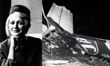 stewardessa spadła ze szczątkami samolotu z 10 000 m i przeżyła