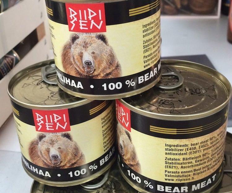 mięso z niedźwiedzia w puszce