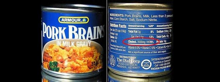 świńskie mózgi w sosie - nietypowa konserwa