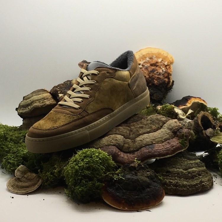 buty z wykorzystaniem hubiaka pospolitego
