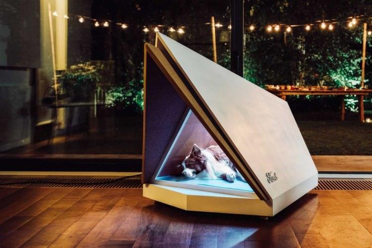 prototyp cichej budy dla psów
