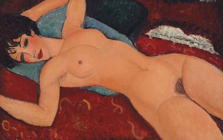 obraz Modigliani - Nu couché