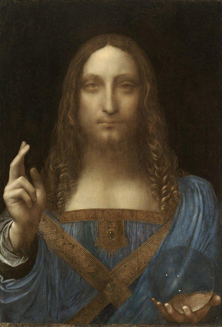 Leonardo da Vinci, obraz Salvator Mundi