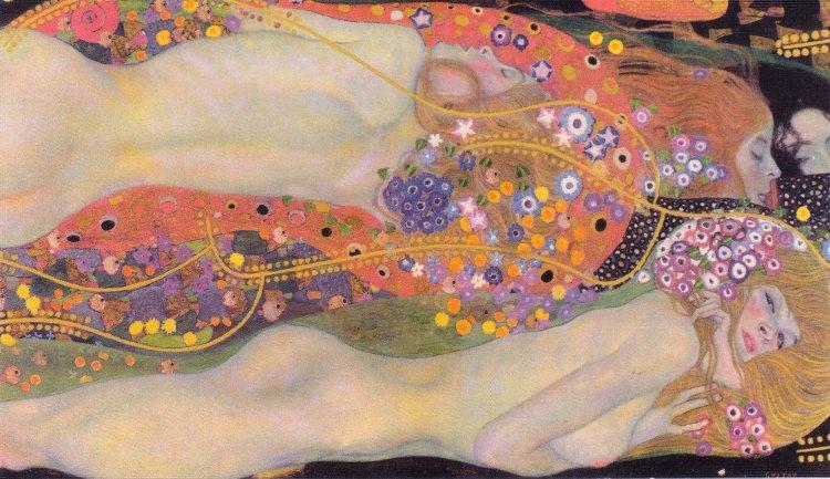 Gustav Klimt - obraz Wasserschlangen II (Freundinnen)