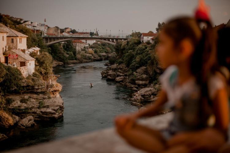 Mostar - widok na rzekę Neretva