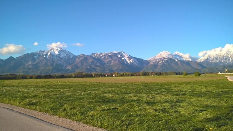 Kranj - widok na Alpy