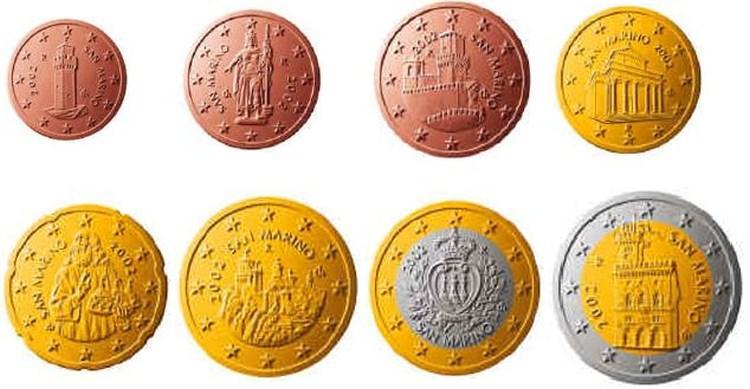 San Marino monety euro