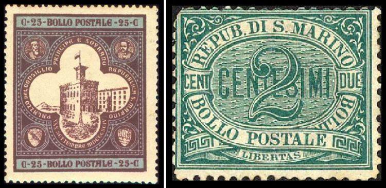 Znaczki pocztowe z San Marino