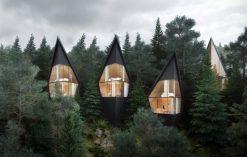 domki na drzewie w Dolomitach