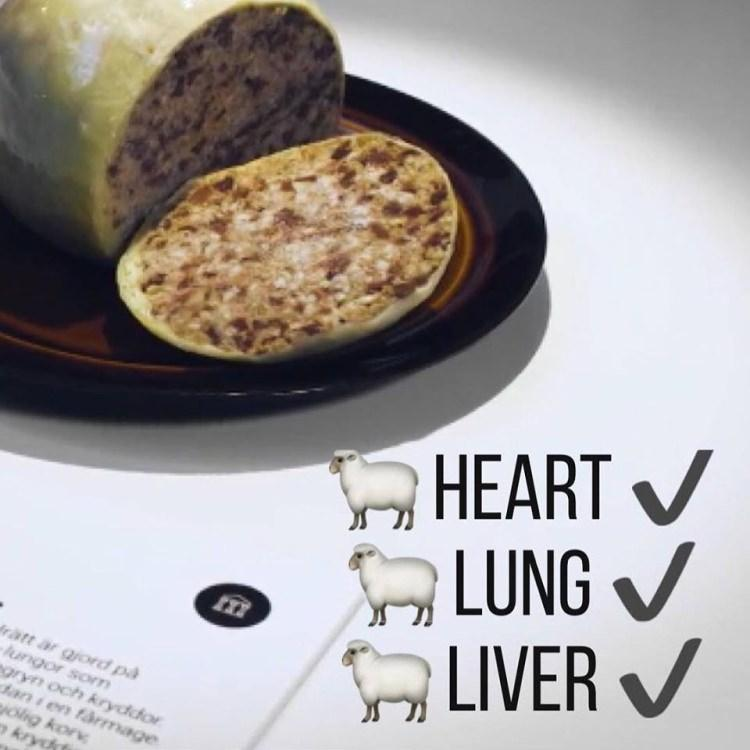 haggis - połączenie owczego sera, wątroby i płuc