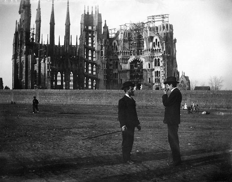 Sagrada Familia - zdjęcie z 1905 roku