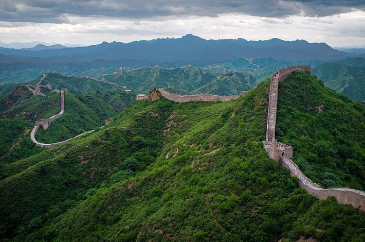 Wielki Mur Chiński w okolicach Jinshanling