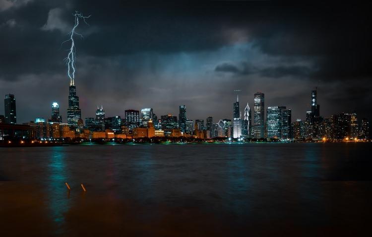 Burza nad Chicago