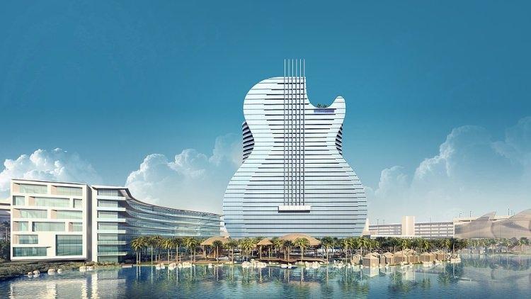 Hotel w kształcie gitary
