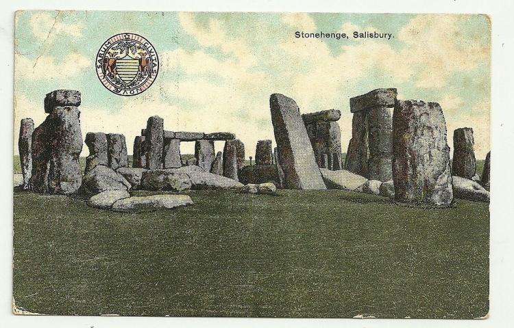 Stonehenge pocztówka z 1907 roku