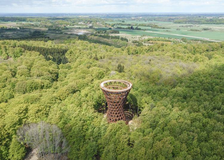 ścieżka w koronach drzew - Dania