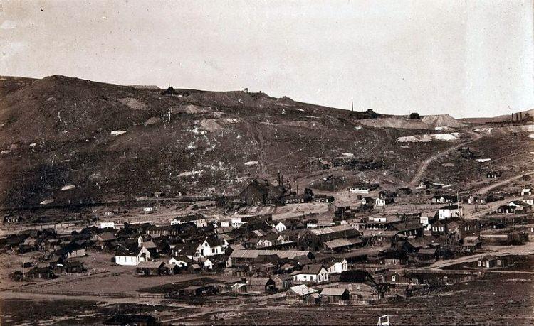 djęcie z 1890 roku - Bodie, USA