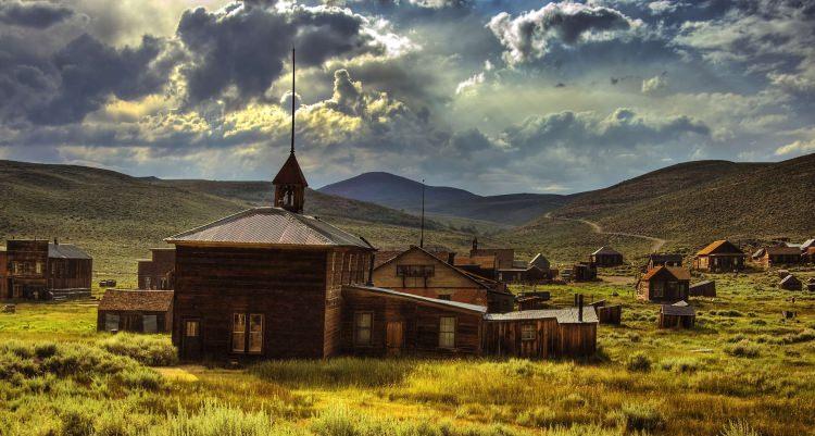 Opuszczone miasto Bodie w stanie Kalifornia, USA