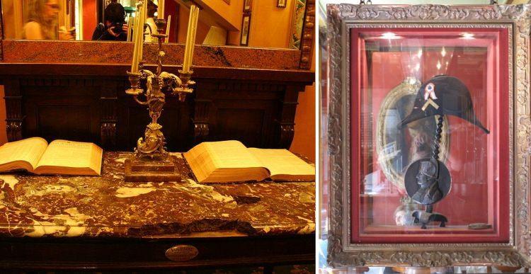 stolik Woltera w kawiarni Procope i czapka Napoleona