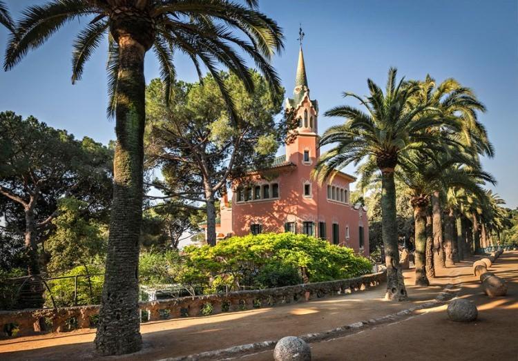 Muzeum Gaudiego w Park Guell w Barcelonie