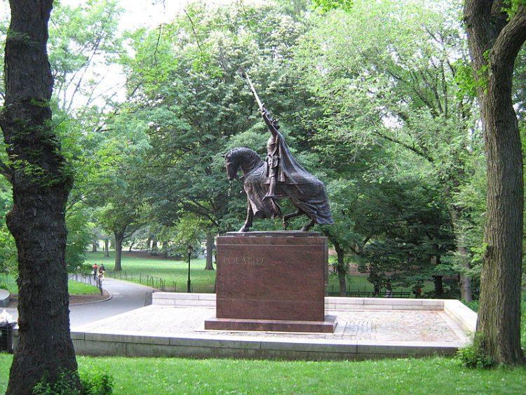 Pomnik Władysława Jagiełły w nowojorskim Central Parku