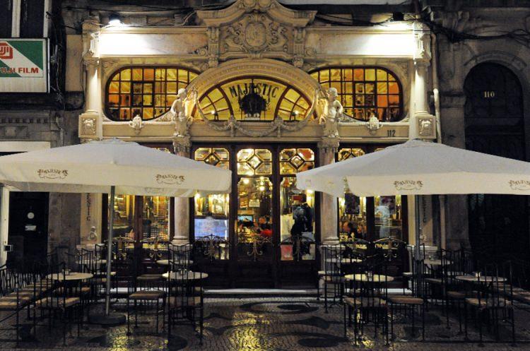 Kawiarnia Cafe Majestic w Porto