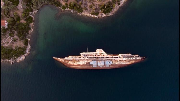 Wrak statku Mediterranean Sky