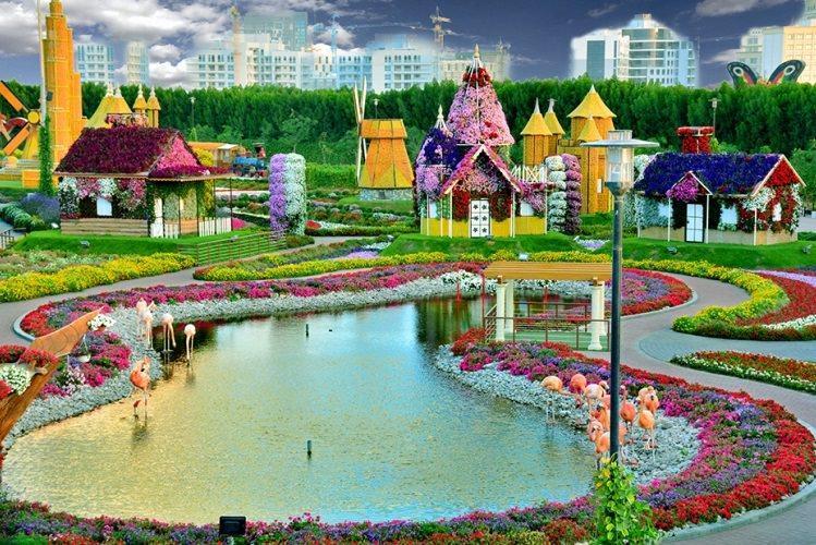 Ogród Cudów w Dubaju - największy ogród na świecie