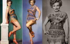Marylin Monroe w sukience zrobionej z worków na ziemniaki