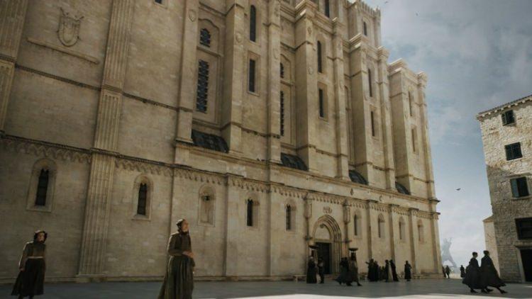 Szybenik katedra św. Jakuba - serialowy Dom Czerni i Bieli