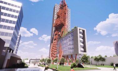 Top Tower - Wieżowiec z wrakiem statku