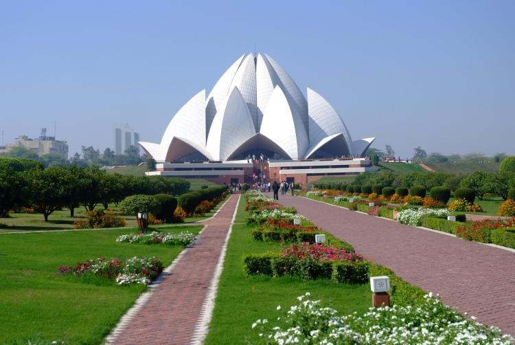 Światynia lotosu w Indiach