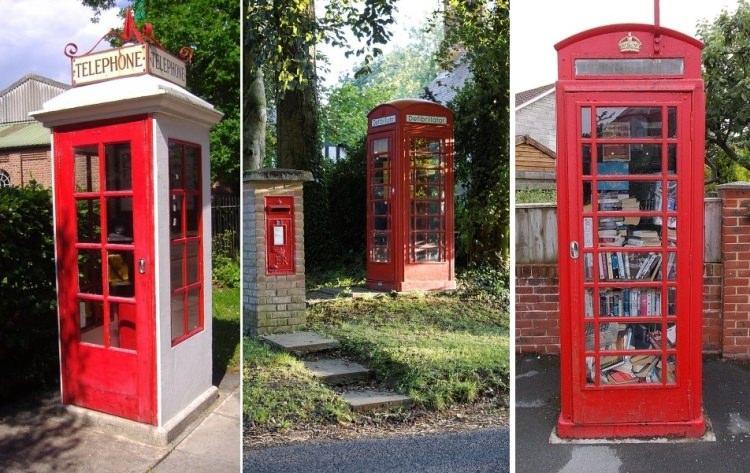 czerwone budki telefoniczne w Londynie
