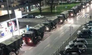ciężarówki wojskowe z Bergamo