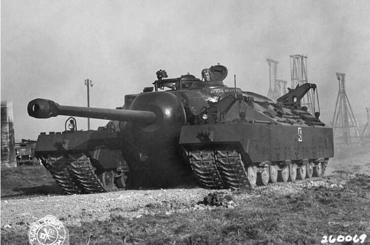 T28 Super Heavy Tank - największy czołg superciężki zaprojektowany dla potrzeb amerykańskiej armii w czasie II wojny światowej