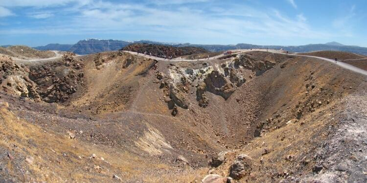Kratery wulkaniczne na Santorini