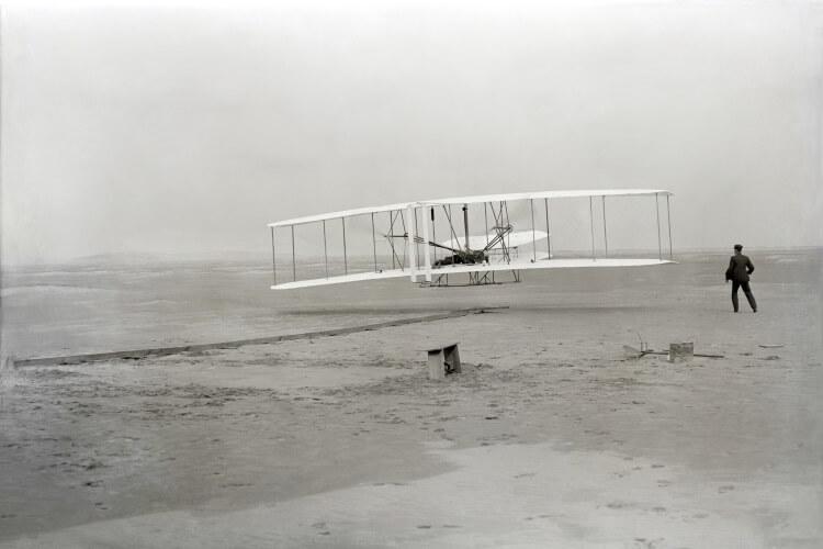 pierwszy udany lot samolotem braci Wright