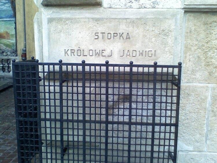 stopka królowej Jadwigi w Krakowie